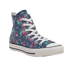 Converse All Star High Top Sneakers floral Size 7